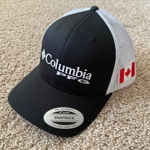 NEW Columbia PFG Canada Flag Mesh Snapback Cap